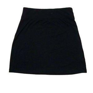 EDDIE BAUER Black Stretch Waist Skirt L